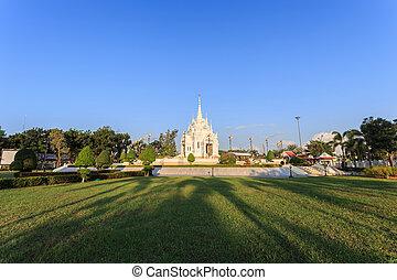 el, ciudad, pilar, santuario, de, Surat, Thani, provincia,