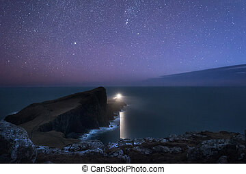 Neist Point Lighthouse - Niest Point Lighthouse under the...