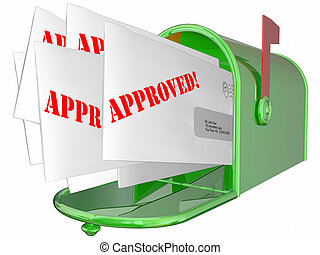 Approved Letter Accepted Message Mailbox 3D