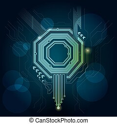 facet - Graphic of technological theme