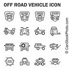 Off road icon - Off road vehicle icon set