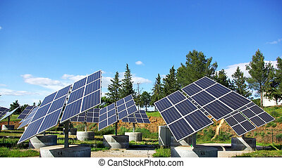 Photovoltaic panels. - Photovoltaic panels in solar park.