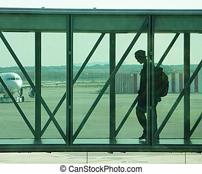Passanger boarding - Boarding operations, a passanger ready...