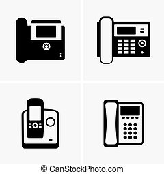 IP phones - Set of four IP phones
