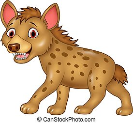 Cartoon funny hyena - Vector illustration of Cartoon funny...