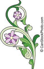 Purple stylized flowers - Vector illustration of a stylized...