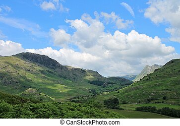 Little Langdale Valley Cumbria - Little Langdale Valley in...