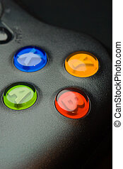 video game controller close up