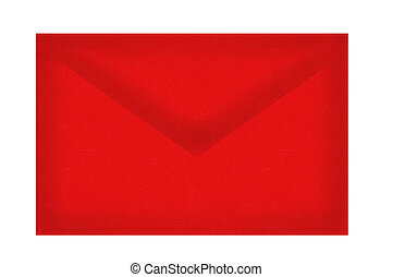 Red letter envelope isolated on white background