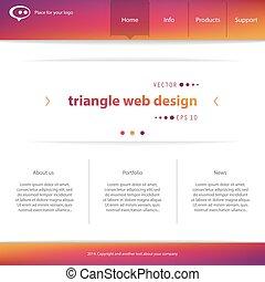 Web interface - Abstract Creative concept vector website...