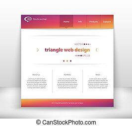Web interface - Abstract Creative concept vector website...