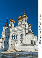 Church of Alexander Nevsky at Railway Square in Tver, Russia...