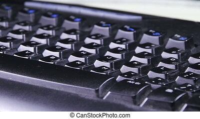 Black Keyboard Rotates