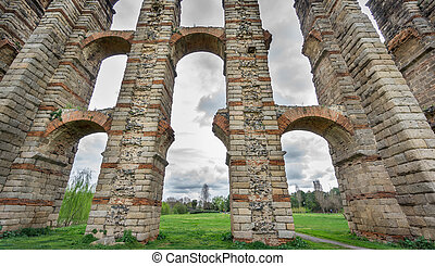 Aqueduct of the Miracles in Merida, Spain, UNESCO - Ultra...