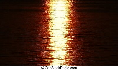 Sun Reflected On Shimmering Water - Sun reflection on the...