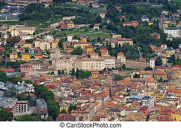 the italian town Trento, the castle