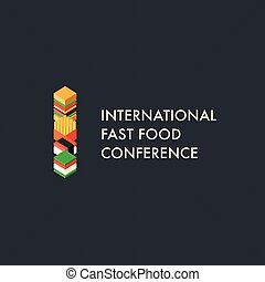 International fast food conference template, logo