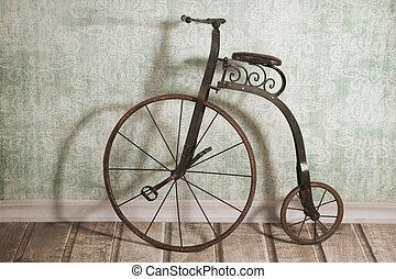 historique, Vélo, par, les, mur,