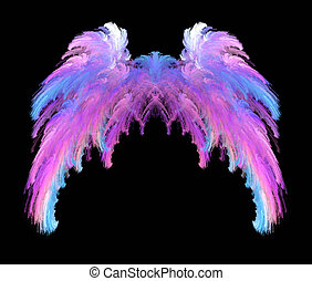 Pink Blue and White Wings