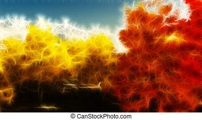 Impressionist autumn scene