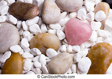 Spa stones on the grey background