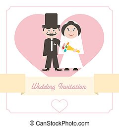 Wedding Invitation Retro Card