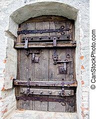 Huge iron door to the city of Schongau, Germany