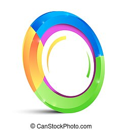 Colorful Circle  Shape Isolated on White Background
