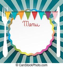 Restaurant or Bistro Menu Retro  Design