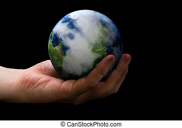 WOrld in your hands - Concept of world in your hands.