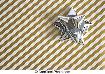 wrapping paper and bow - wrapping paper with space for copy