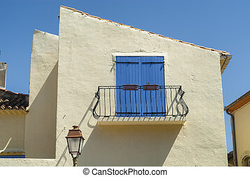 Sigean Languedoc-Roussillon, France: window and balcony -...