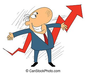 Business growth concept - Vector illustration of a business...