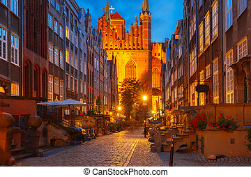 Mariacka street in Gdansk Old Town, Poland - Beautiful...