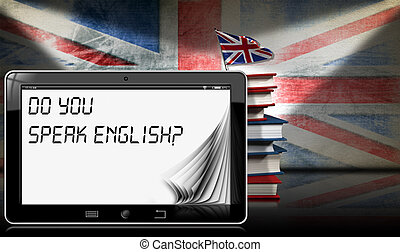 Do You Speak English - Tablet and Books - Tablet computer...