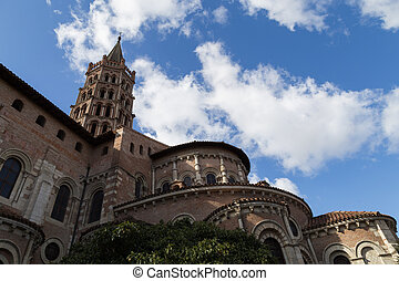 Basilica Saint-Sernin in Toulouse, France - Photograph of...