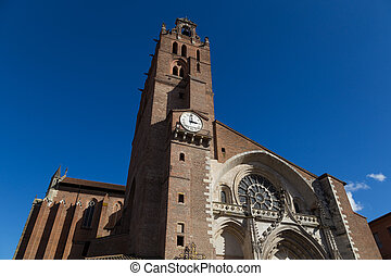 Cathedral Saint-Etienne in Toulouse, France - Photograph of...