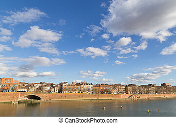 View over Garonne River in Toulouse - View over the Garonne...