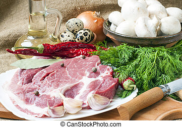meat  and  herbs