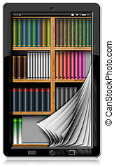 Tablet Computer with Pages and Library