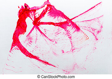 Abstract paint background - Abstract red spot paint on white...