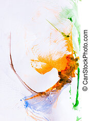 Abstract paint background - Abstract colorful spot paint on...