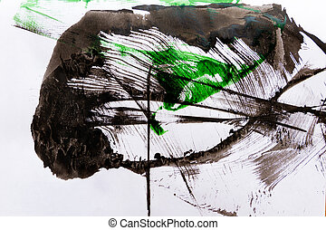 Abstract paint background - Abstract black spot paint on...