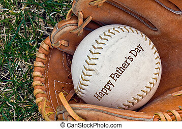 Game On - Father day message on ball in glove
