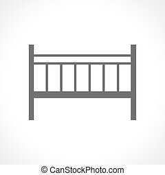 Baby cot icon isolated on white background Portable camp bed...