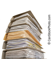 Documents - A lot of documents with one another color...