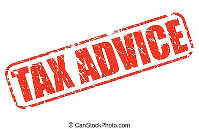TAX ADVICE red stamp text on white