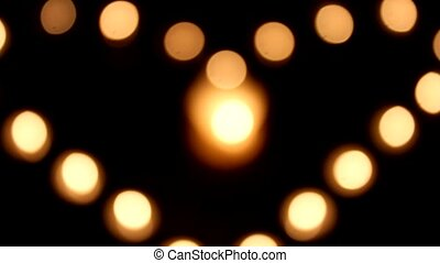 Candles Lights - Love Heart