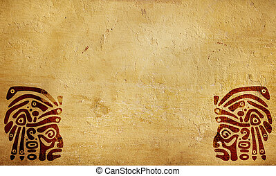 American Indian national patterns - Horizontal background...