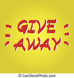Giveaway hand drawn vector icon - Giveaway hand drawn vector...